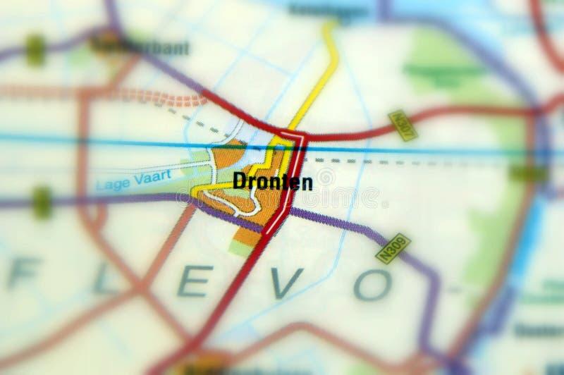 Ciudad de Dronten - Países Bajos fotografía de archivo libre de regalías