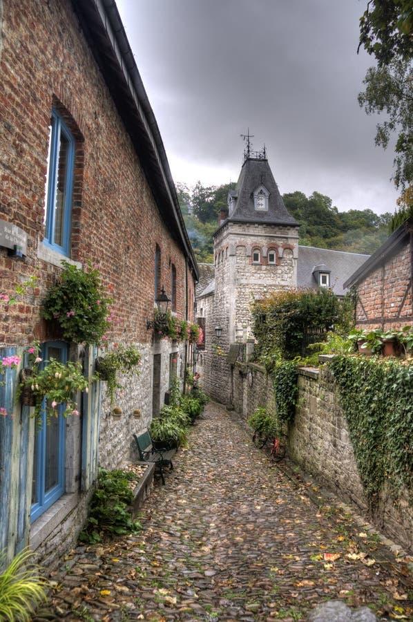 Ciudad de Durbuy en Bélgica foto de archivo libre de regalías