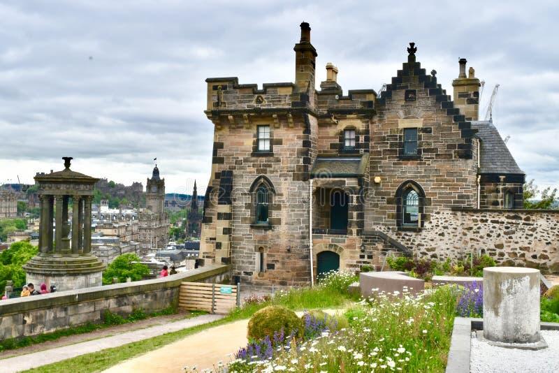Ciudad de Edimburgo de la colina de Carlton imágenes de archivo libres de regalías