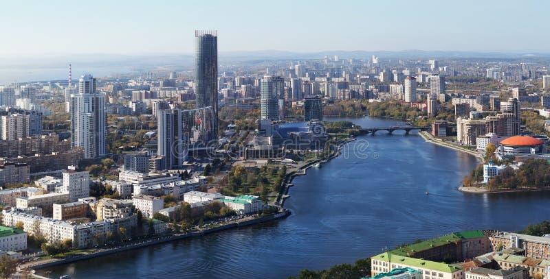 Ciudad de Ekaterimburgo imagenes de archivo
