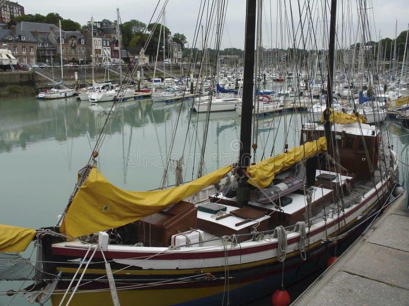 Ciudad de St Valery En Caux Normandy France imagen de archivo