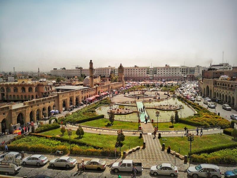 Ciudad de Erbil fotos de archivo
