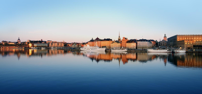 Ciudad de Estocolmo foto de archivo