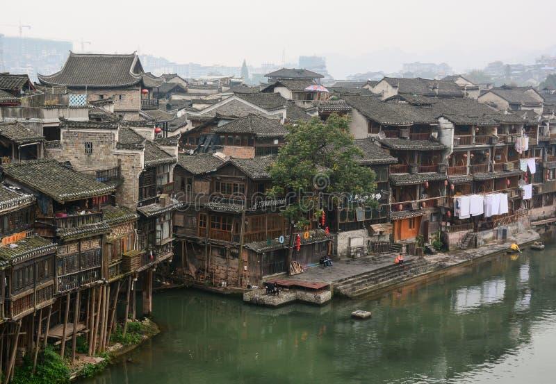 Ciudad de Fenghuang, China imagen de archivo