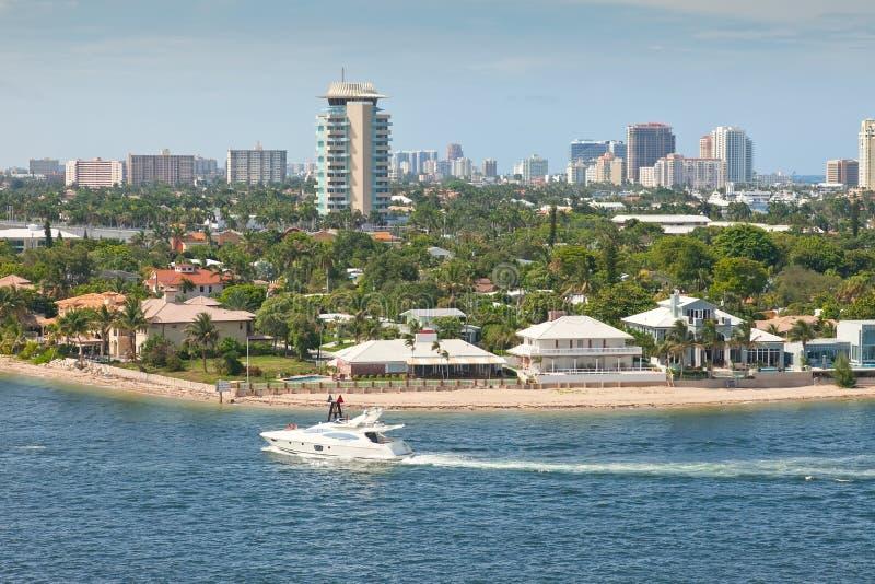 Ciudad de Fort Lauderdale, la Florida fotografía de archivo