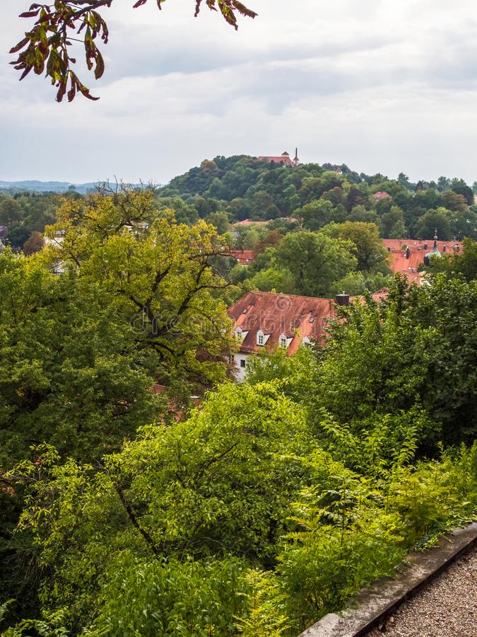 Ciudad de Freising y de Weihenstephan imagen de archivo