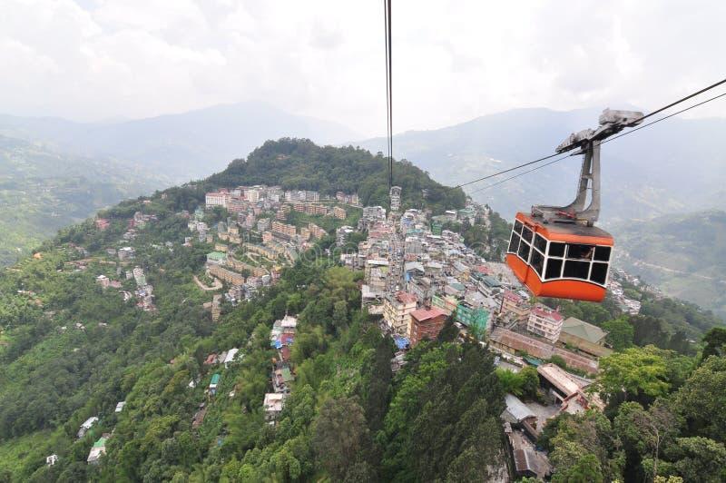Ciudad de Gangtok fotografía de archivo