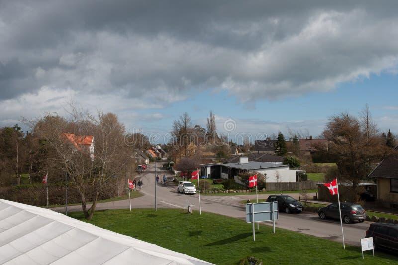 Ciudad de Gedesby en Dinamarca imágenes de archivo libres de regalías