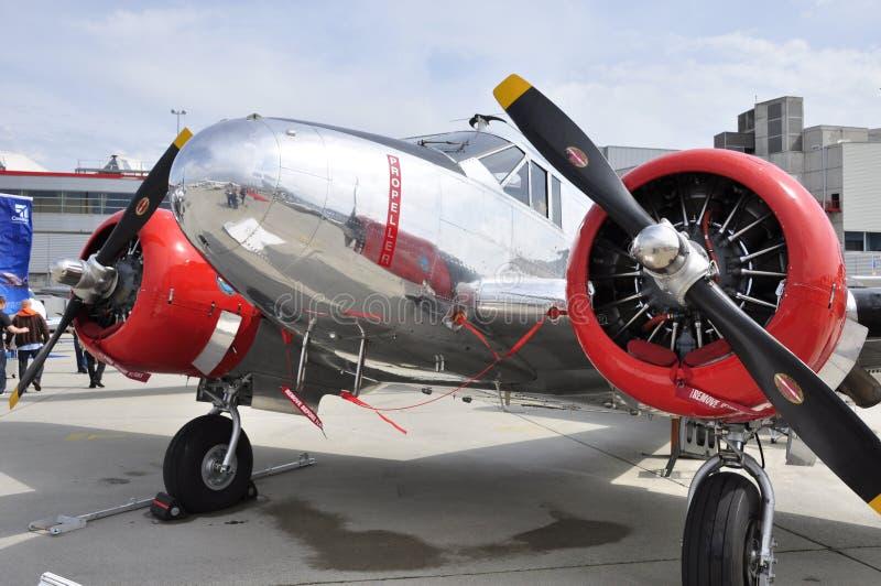 Ciudad de Ginebra: En la exposición del aeroplano de EBACE en el aeropuerto de Ginebra foto de archivo