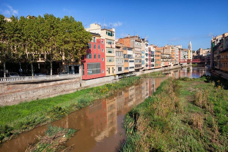 Ciudad de Girona en Catalunya España imágenes de archivo libres de regalías