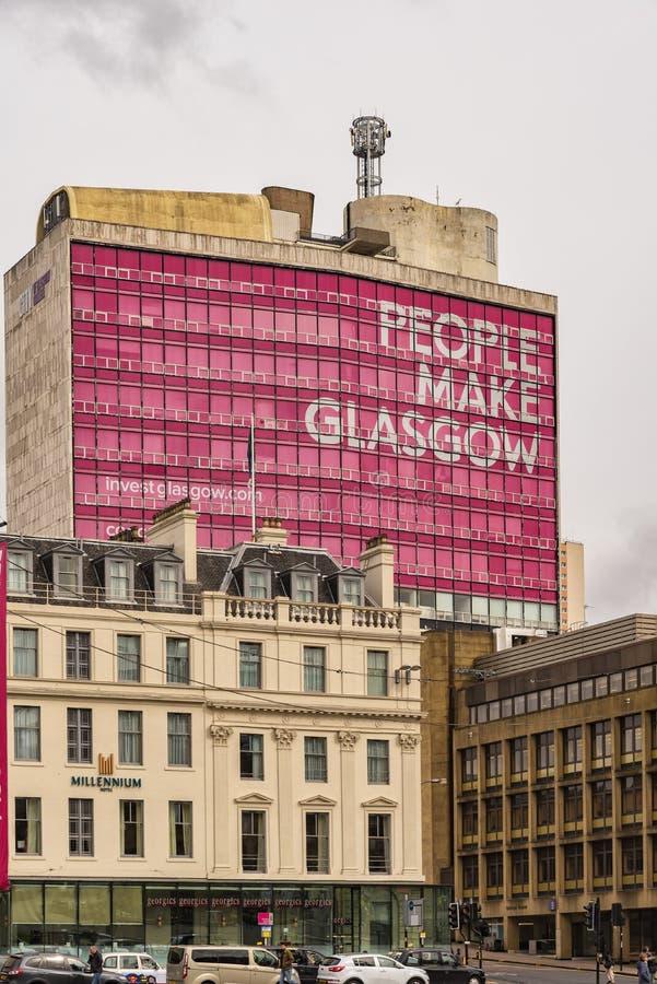 Ciudad de Glasgow College imagenes de archivo