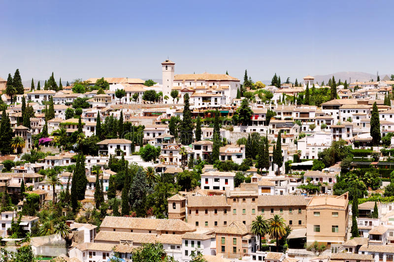 Ciudad de Granada, España imágenes de archivo libres de regalías