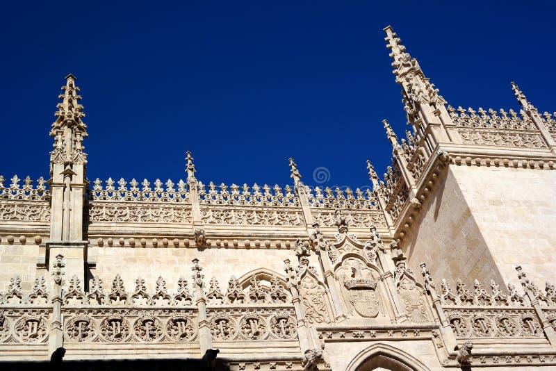Ciudad de Granada, opinión de la catedral, España imagen de archivo libre de regalías