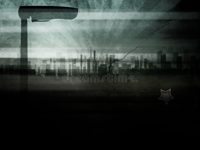 Ciudad de Grunge ilustración del vector