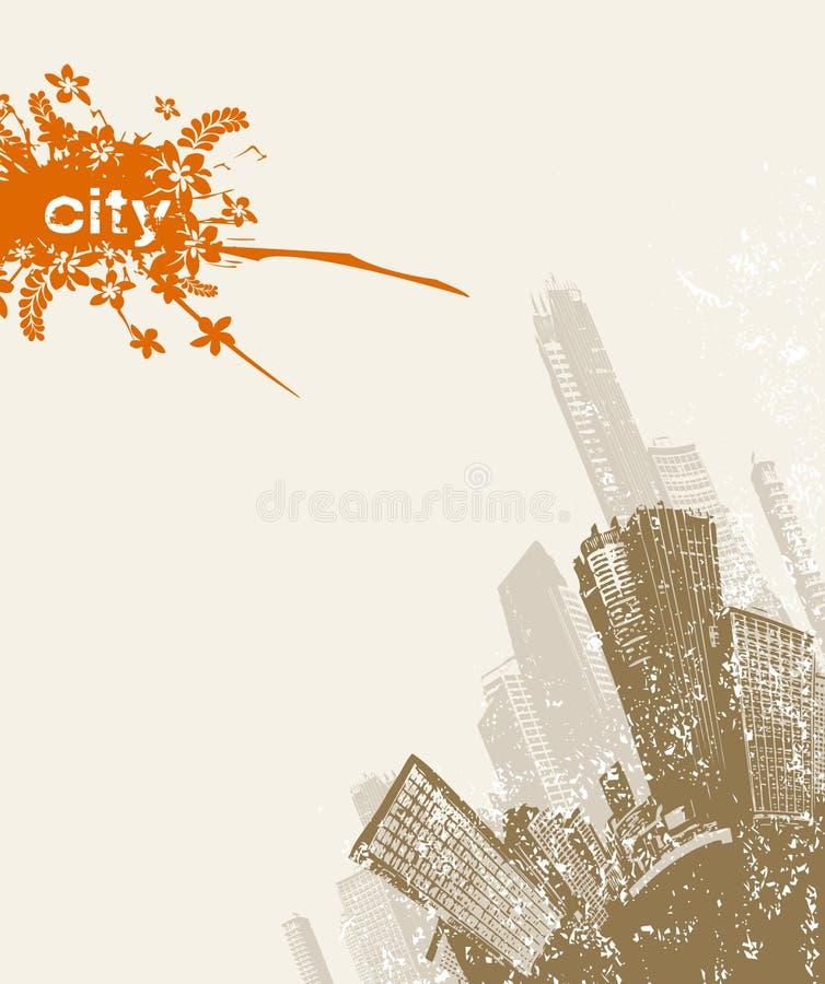 Ciudad de Grunge en la esquina. libre illustration