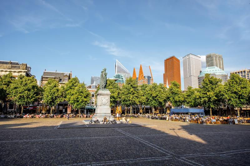 Ciudad de Haag en Países Bajos fotografía de archivo libre de regalías