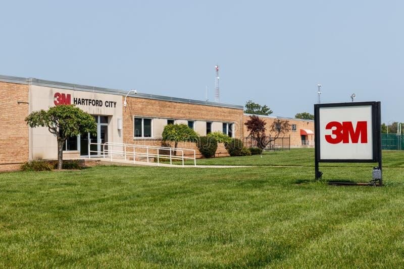 Ciudad de Hartford - circa agosto de 2018: 3M graba la instalación industrial Esta planta es parte de la división industrial IV fotografía de archivo