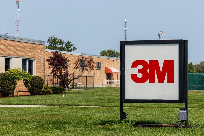 Ciudad de Hartford - circa agosto de 2018: 3M graba la instalación industrial Esta planta es parte de la división industrial V fotografía de archivo
