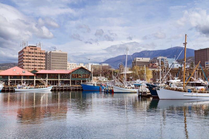 Ciudad de Hobart, Tasmania fotografía de archivo libre de regalías