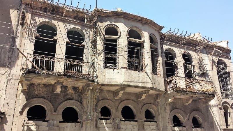 Ciudad de homs después de la guerra fotos de archivo