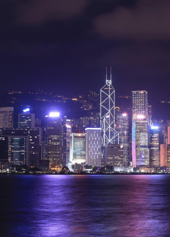 Ciudad de Hong Kong, visión desde Victoria Harbour imagen de archivo
