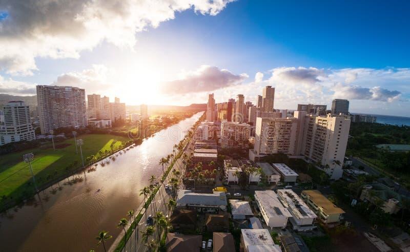 Ciudad de Honolulu imagen de archivo libre de regalías