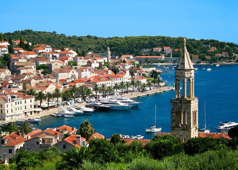 Ciudad de Hvar en Croacia imagen de archivo