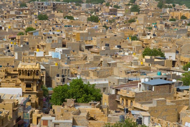 Ciudad de Jaisalmer en Rajasthán, la India foto de archivo libre de regalías