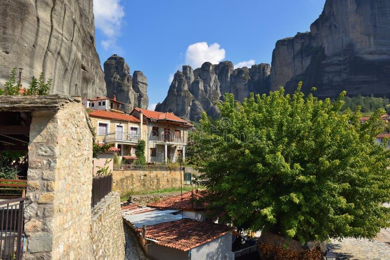 Ciudad de Kastraki, montañas de Meteora en Thessaly, Grecia fotos de archivo libres de regalías