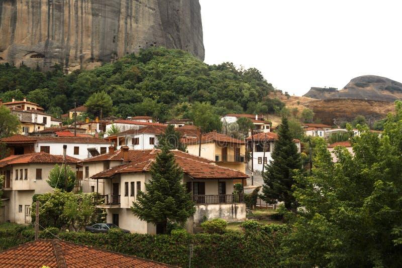 Ciudad de Kastraki, montañas de Meteora en Thessaly, Grecia imagen de archivo libre de regalías