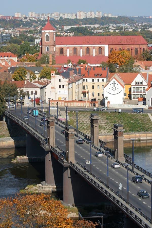 Ciudad de Kaunas fotografía de archivo