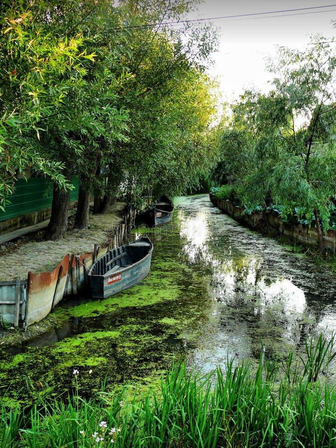 Ciudad de Kiliya Venecia de Ucrania foto de archivo libre de regalías