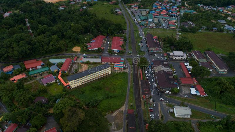 Ciudad de Kinarut, Papar, Sabah foto de archivo libre de regalías