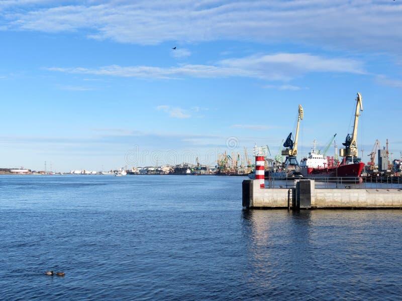 Ciudad de Klaipeda, Lithuiania fotografía de archivo