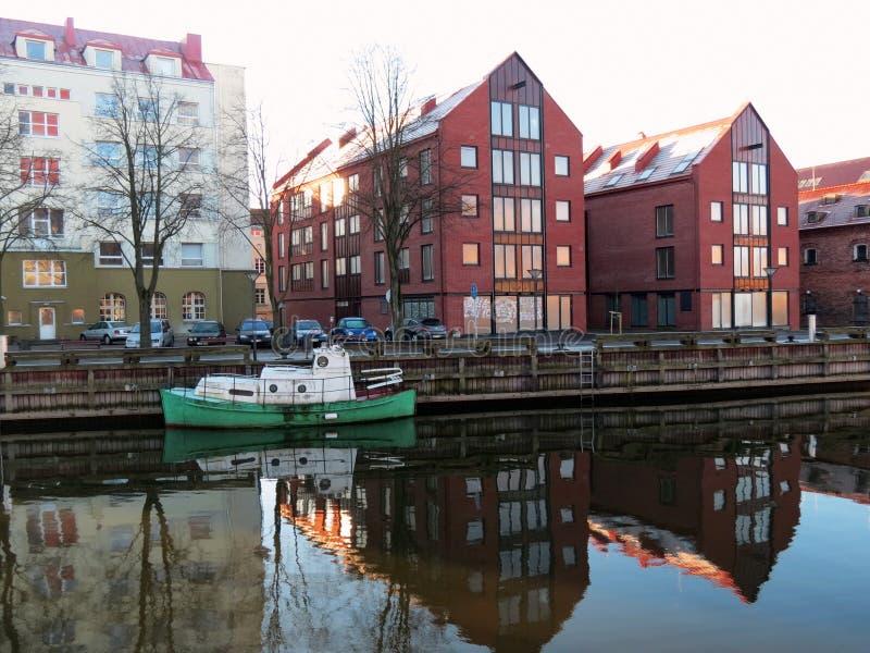Ciudad de Klaipeda, Lithuiania foto de archivo libre de regalías