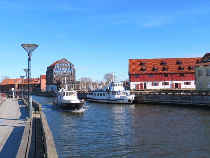 Ciudad de Klaipeda, Lithuiania imagen de archivo