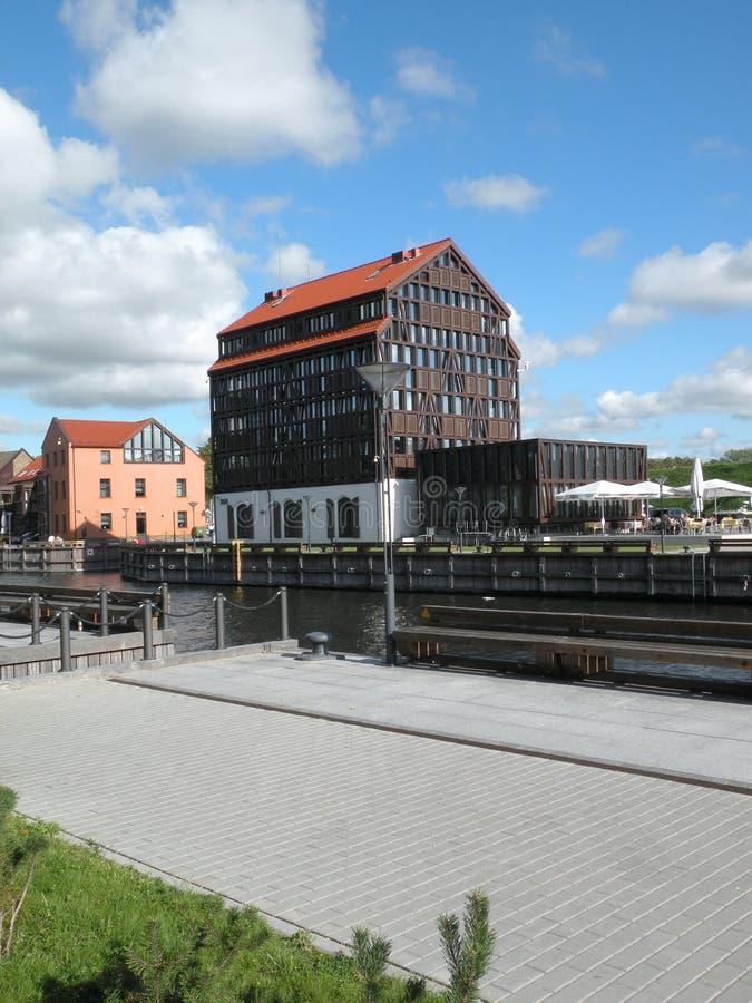 Ciudad de Klaipeda, Lituania foto de archivo libre de regalías