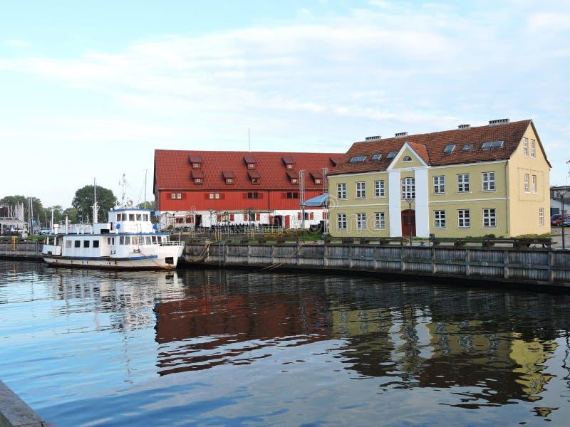 Ciudad de Klaipeda, Lituania imagen de archivo