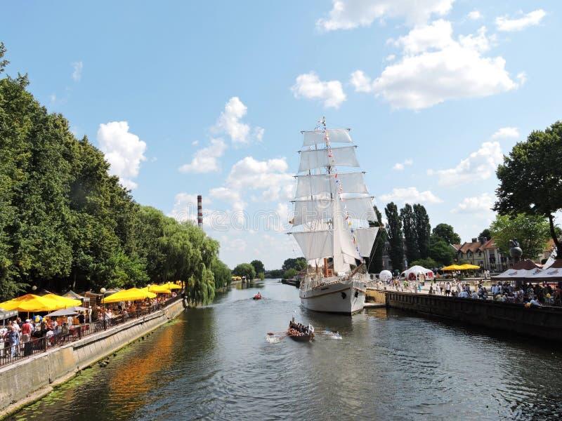 Ciudad de Klaipeda, Lituania imagen de archivo libre de regalías