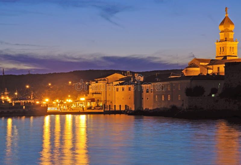 Ciudad de Krk, isla de Krk, Croatia imágenes de archivo libres de regalías