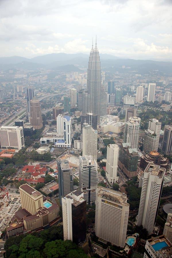 Ciudad de Kuala Lumpur de la opinión de la tarde fotografía de archivo