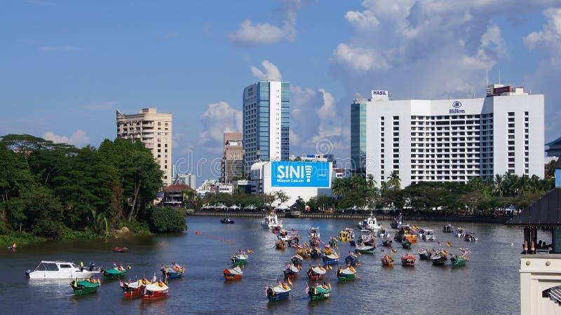 Ciudad de Kuching fotografía de archivo