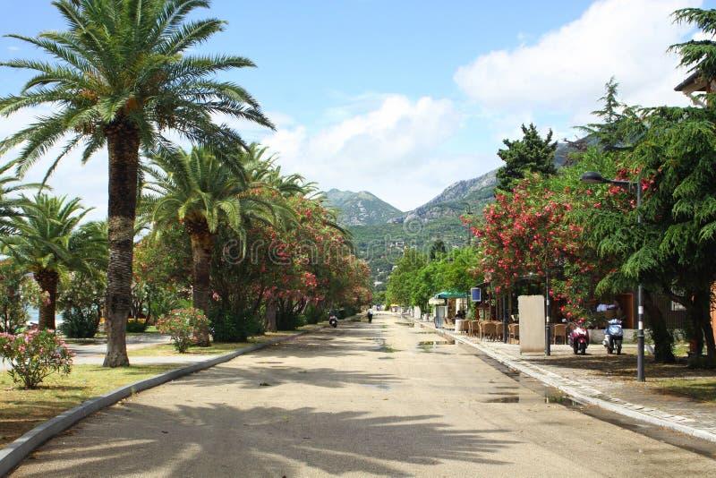 Ciudad de la barra, Montenegro fotografía de archivo libre de regalías