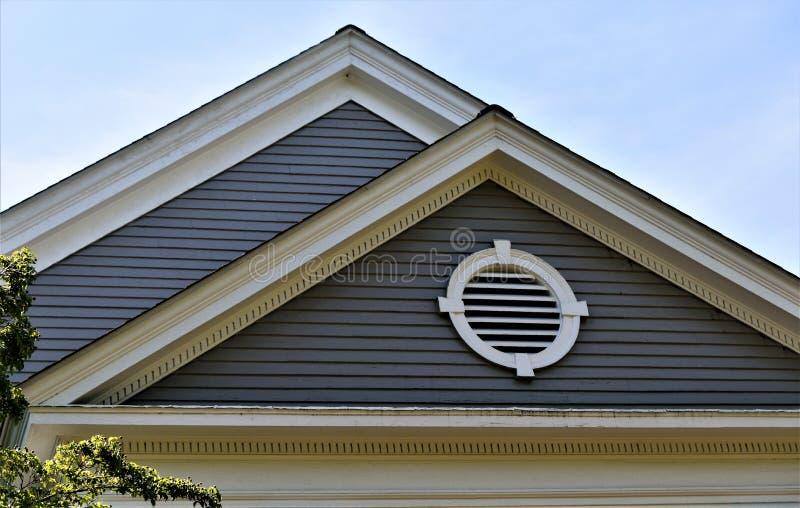 Ciudad de la concordia, el condado de Middlesex, Massachusetts, Estados Unidos Configuración foto de archivo