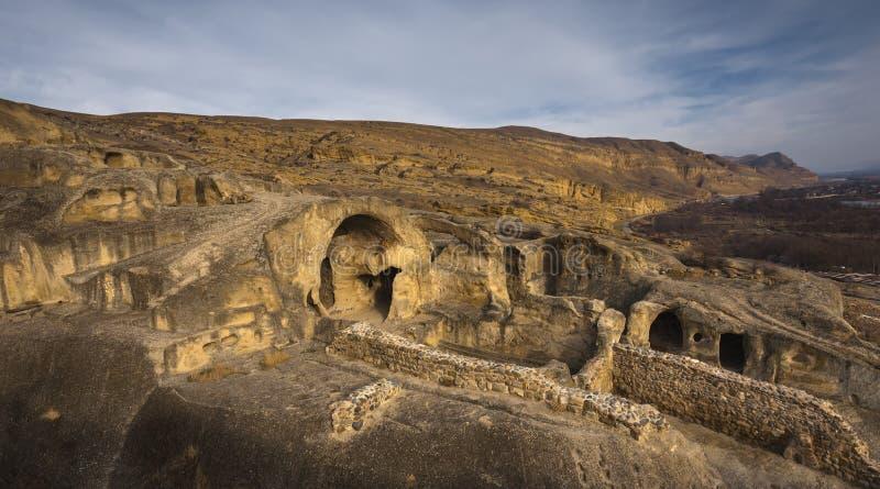 Ciudad de la cueva, Georgia, el Cáucaso foto de archivo libre de regalías