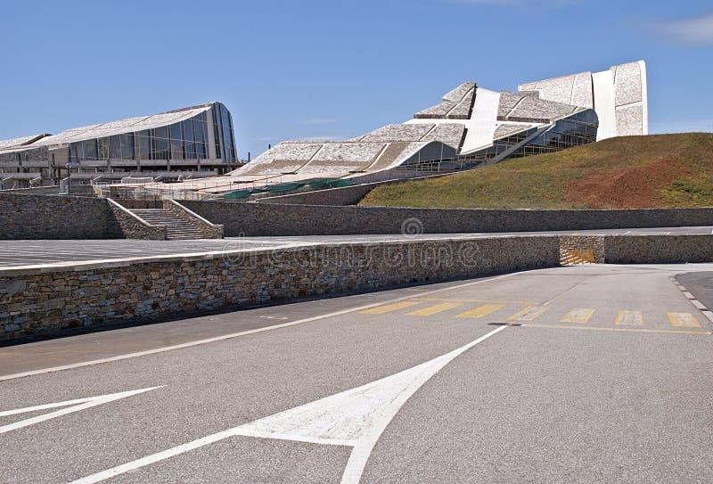 Ciudad de la cultura de Galicia imagenes de archivo