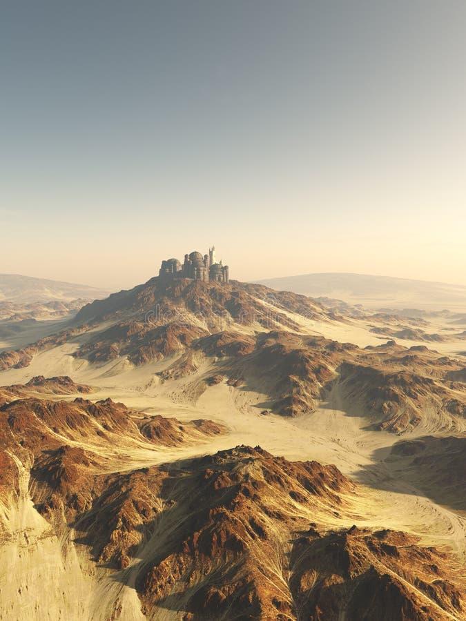 Ciudad de la cumbre del desierto stock de ilustración