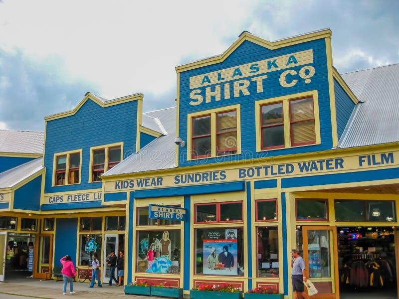 Ciudad de la fiebre del oro, Skagway, Alaska fotografía de archivo