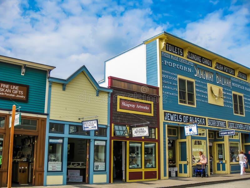Ciudad de la fiebre del oro, Skagway, Alaska imagen de archivo