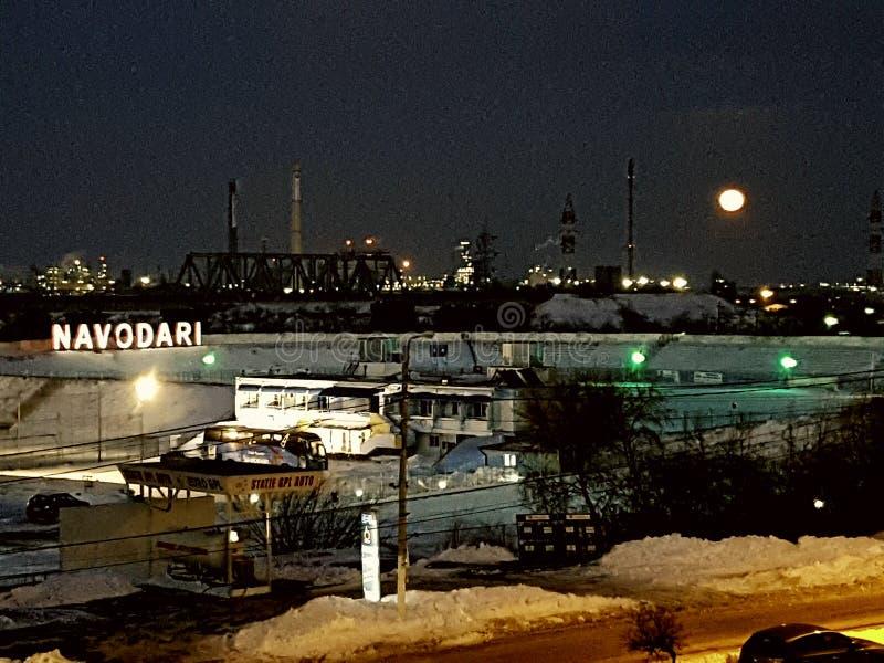 Ciudad de la gasolina de Rafinery foto de archivo